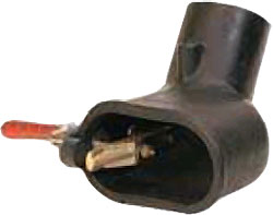 Singel/dubbelrör avgasmunstycke - oval - personbil