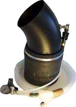 Pneumatiskt avgasmunstycke - rund