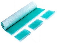 "Glass fiber mats G3 (EU3), ""paint-stop green"" - filter strength  70 mm - roll length 20 m"