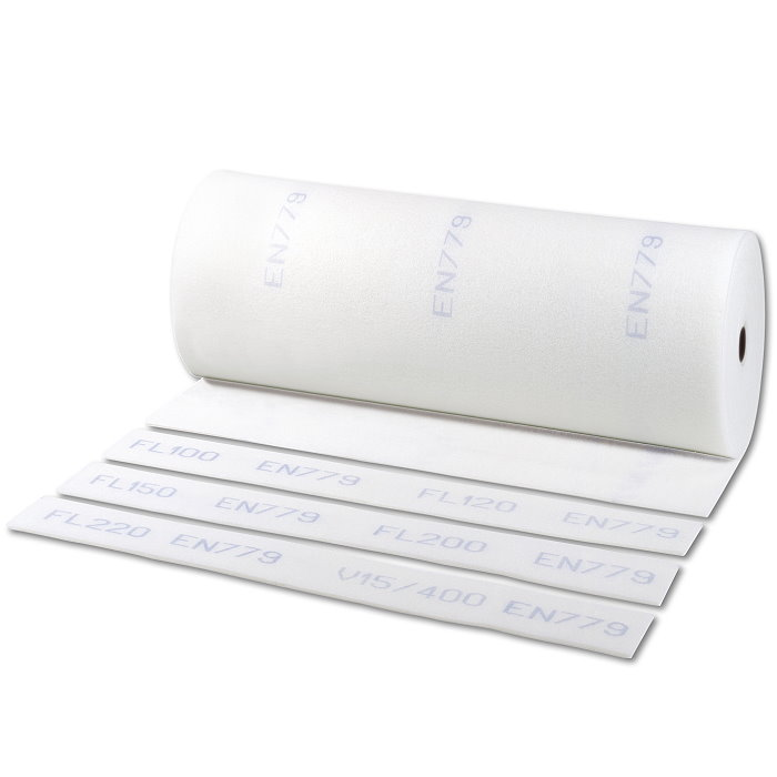 """Polyester grovstøvfiltret Mat G4 (EU4) """"EA 50-White"""" - Filter Tykkelse 50mm - Roller"""