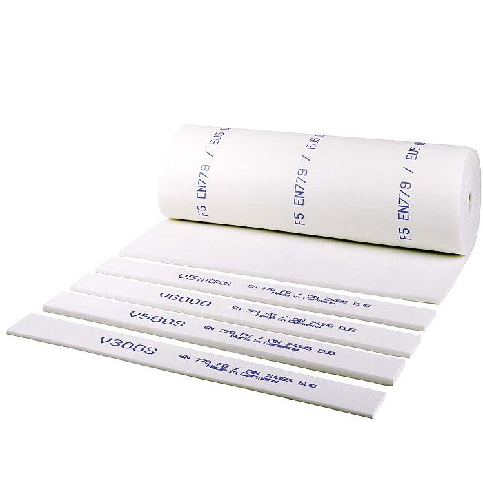 """Polyester Feinstaubfiltermatte F5(EU5) """"V 600G-weiß"""", Filterstärke 24mm, Rollenl"""