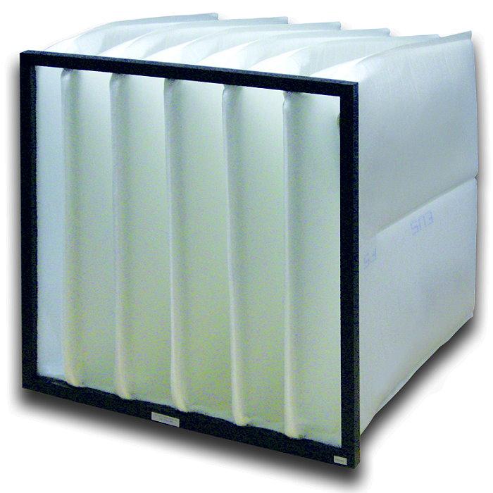 Taschenfilter Synthetik - Filterklasse F5 - Tiefe 150 bis 635mm