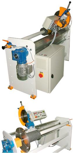 Rollenabstechmaschine mit Semi-Automatik angetriebenes Rundmesser RAS-230