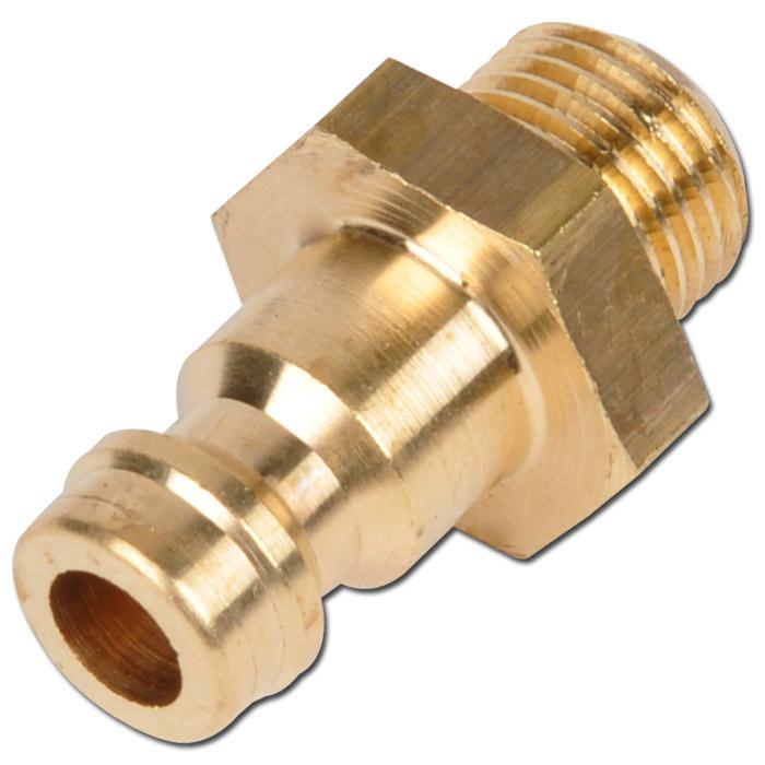Stecker für Minikupplung DN 5 - mit Aussengewinde