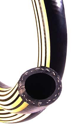 Hochtemperaturschlauch mit Textileinlage - Innen-Ø 13 bis 25 mm -  Außen-Ø 21 bis 35 mm - Preis per Rolle