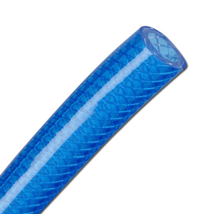 PVC-Druckschlauch - Innen- Ø 6 - 19 mm - blau-transparent - phthalatfrei - Preis per Meter und per Rolle