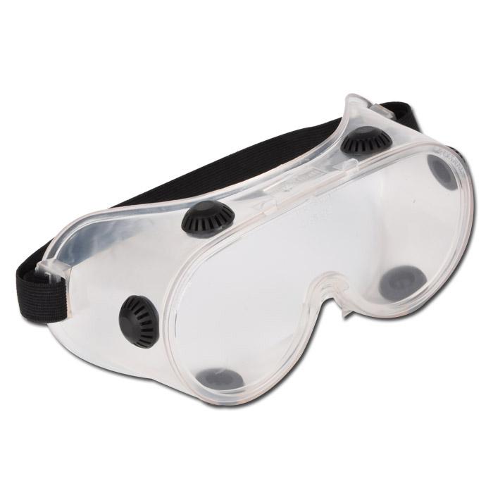 Vollsicht-Schutzbrille Belüftung durch 6 Ventile - Preis per Stück