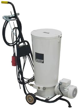 Fettpress - med elektrisk drift - fullvolym 30 kg