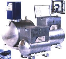 Bränslebehållare 250 liter - IBC - diesel/brännolja