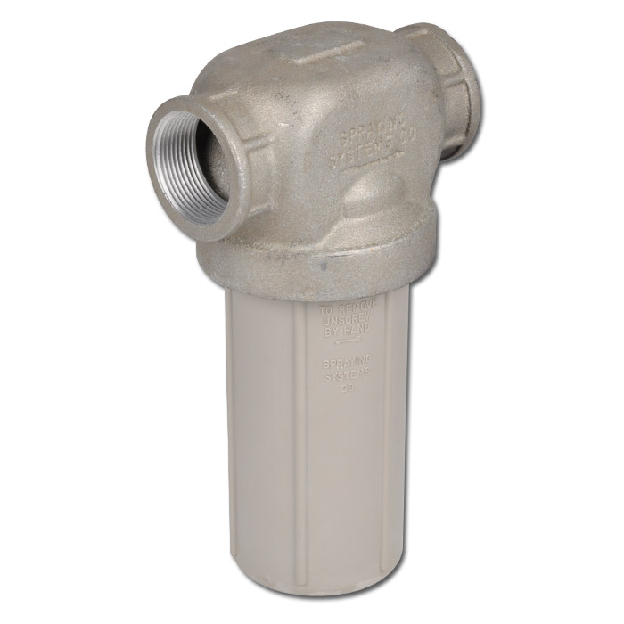 Leitungsfilter 124-AL - Filtertopf Nylon / Filterkopf Aluminium