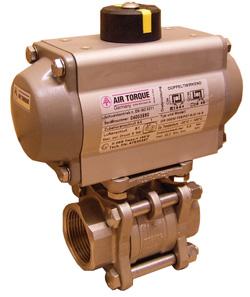 Sleeve ball valve stainless steel - PN 36 drive SC15-6 - 300-6 2-way ball valve