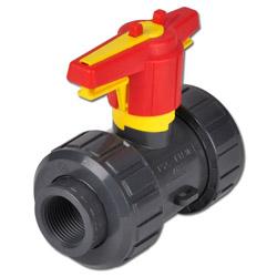 Kugelhahn aus Kunststoff - PVC-U - 2-Wege - S4 DN 20 d25