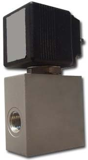 Solenoid valve - 3/2-way for vegetable oil - 5 bar - aluminum - normally closed,