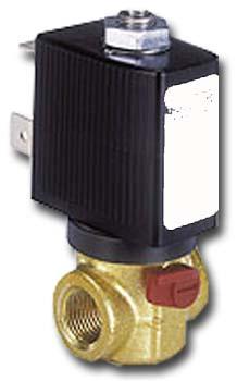 Magnetventil 2/2-Wege - Wasser Druckluft Öl Vakuum - stromlos geöffnet und strom