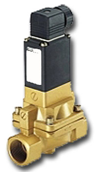 Solenoid valve - 2/2-way - oil-and fat-free media, hot water - 0.2 to 10 bar - n