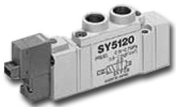 Solenoid valve - 5/3-way air - Ported SY5000 - Rubber seal - middle position pre