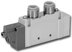 Solenoid valve - 5/3-way air - Ported SY9000 - Rubber seal - middle position pre