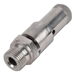 Sicherheitsventil (TÜV) Druckluft - 0,3-50bar MS vernickelt - DN 10
