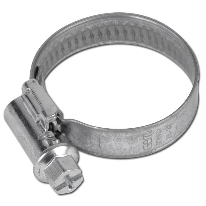 Slangklämma - DIN 3017 - bandbredd 9 mm - förzinkat stål - 8-320 mm