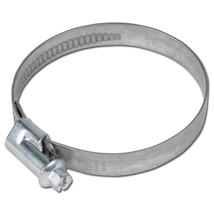 Snäckgängad slangklämma - förzinkad W1 - spännvidd 16 till 320 mm - DIN 3017