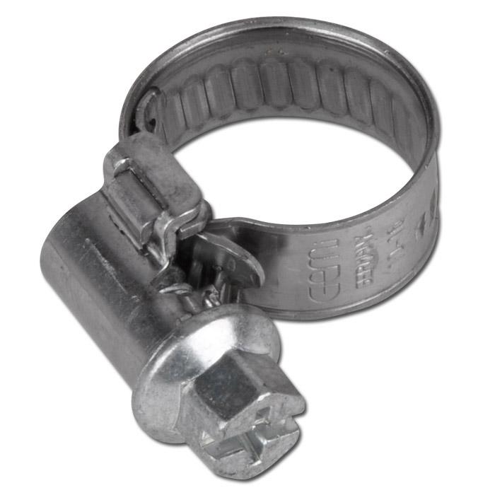 Slangklämma - DIN 3017 - bandbredd 9 mm - kromstål