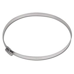 Fascetta stringitubo a vite senza fine - acciaio - capacitá di serraggio da 16 a 320 mm - larghezza 12 mm