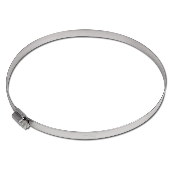 Collier à filet hélicoïdal - acier inoxydable - plage de serrage de 16 à 320mm - largeur 12mm - DIN 3017