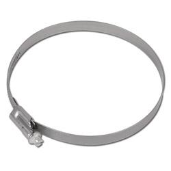 Fascetta stringitubo a vite senza fine - acciaio - capacitá di serraggio da 16 a 220 mm - larghezza 12 mm
