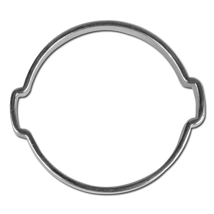 2-öras slangklämma - förzinkat stål - Ø 5 till 40 mm