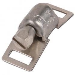 Klämhuvud - för 8 mm bandbredd - V2A, CrNi-stål rostfritt