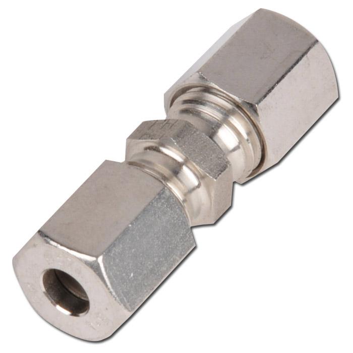 Skruvkoppling - rak - rostfritt stål - lätt modell - rör-Ø 6-42 mm