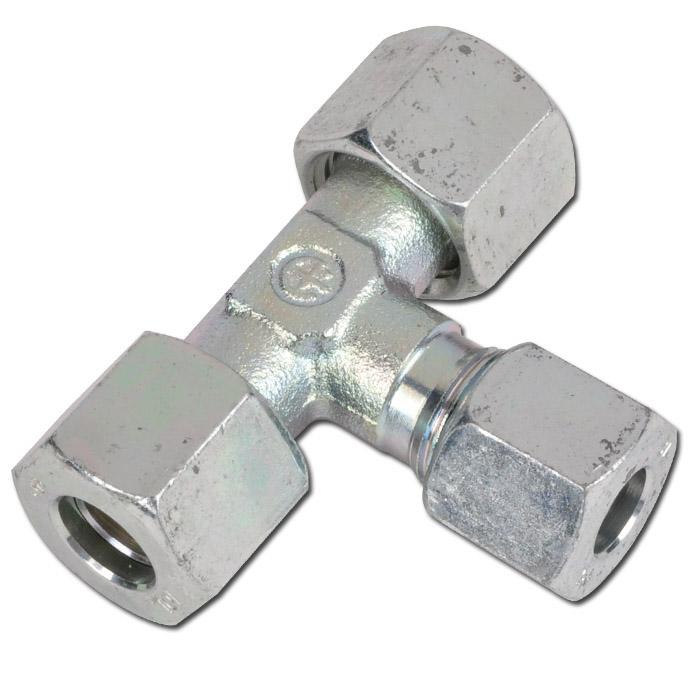 T-reducerskruvkoppling - stål - lätt modell (L)