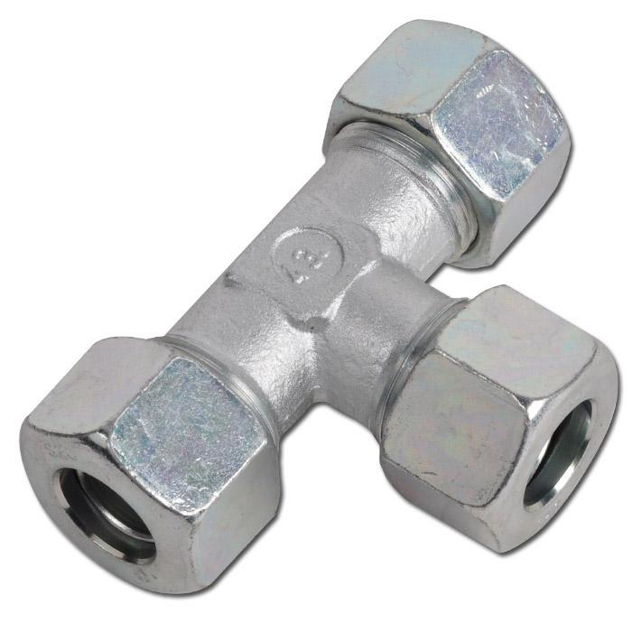 T-Verschraubung - Stahl - Ausführung S - Schneidringverschraubung