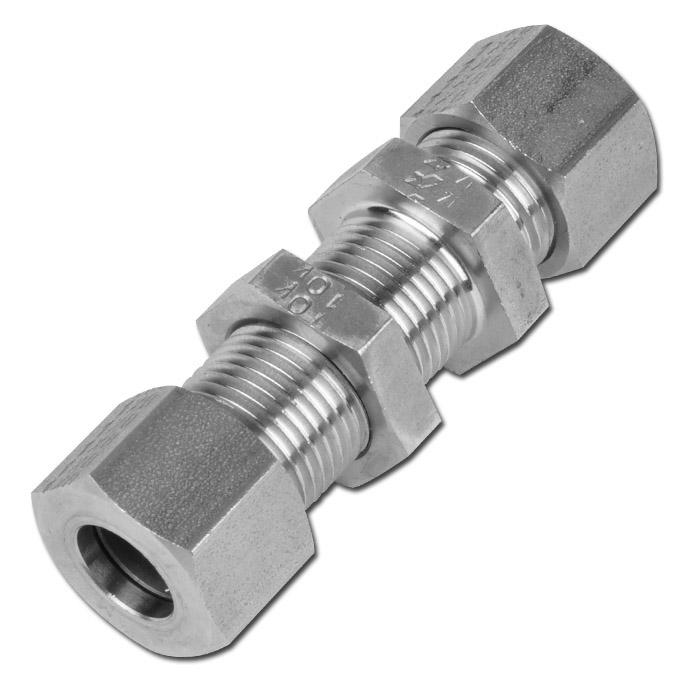 Skottkoppling - rak - rostfritt stål - lätt modell (L)