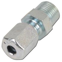 Klämringskoppling - rak - stål - mycket lätt (LL) - tum (BSP)