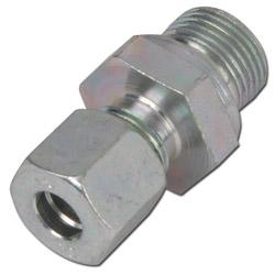 Klämringskoppling - rak - stål - lätt modell (L) - tum (BSP)