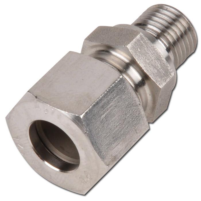 Klämringskoppling - rak - rostfritt stål - lätt (L) - tum (BSP)