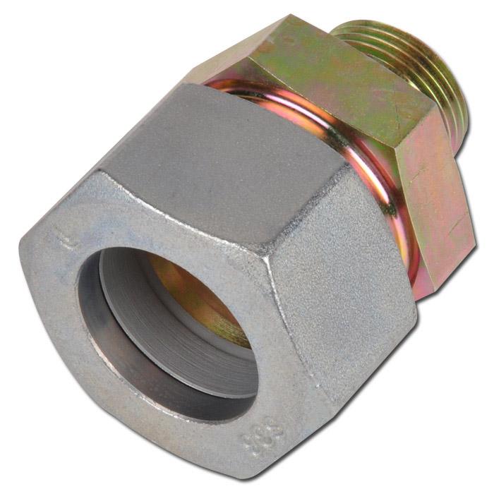 Klämringskoppling - rak - stål - kraftig (S) - tum (BSP)