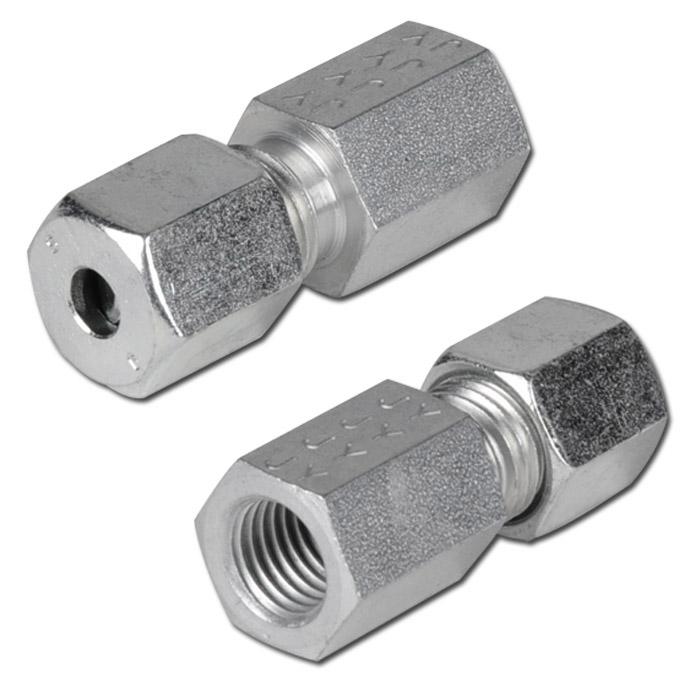 Aufschraubverschraubung - Stahl - metrisch - Ausführung S - gerade - Schneidringverschraubung