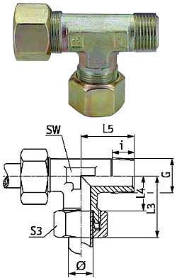 L-Einschraubverschraubung - Stahl - zöllig (NPT) - Ausführung S - Schneidringverschraubung