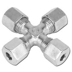 Kreuz-Verschraubung - Stahl - Ausführung S - Schneidringverschraubung