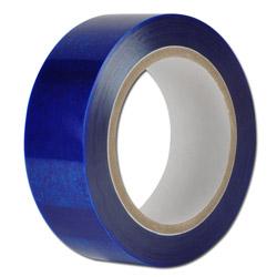 PE-skyddsfolie - svagt självklistrande - blå transparent