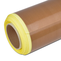 PTFE coated glass fabric - one-sided self-adhesive - temperature resistant to 26