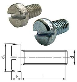 Zylinderschraube mit Schlitz  - DIN 84 / ISO 1207