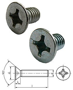 Senkschraube mit Kreuzschlitz - DIN 965 / ISO 7046