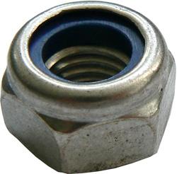 Nakrętka sześciokątna - samoblokujące z tworzywa sztucznego, pierścień zaciskowy - stal ocynkowana 6/8 lub Edelstah A2
