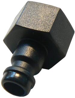 Snabbkoppling - DN 5 - invändig gänga - POM/PVDF
