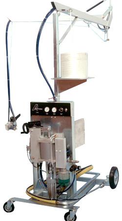 Impianto di iniezione fibre- con miscelazione esterna, braccio sporgenza e carter ingrandito - IPSB-8000