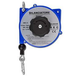 "Spring tension / balancer ""A1"" - load capacity 0,5-1,5 kg - cable length 1,65 / 2,5 m"