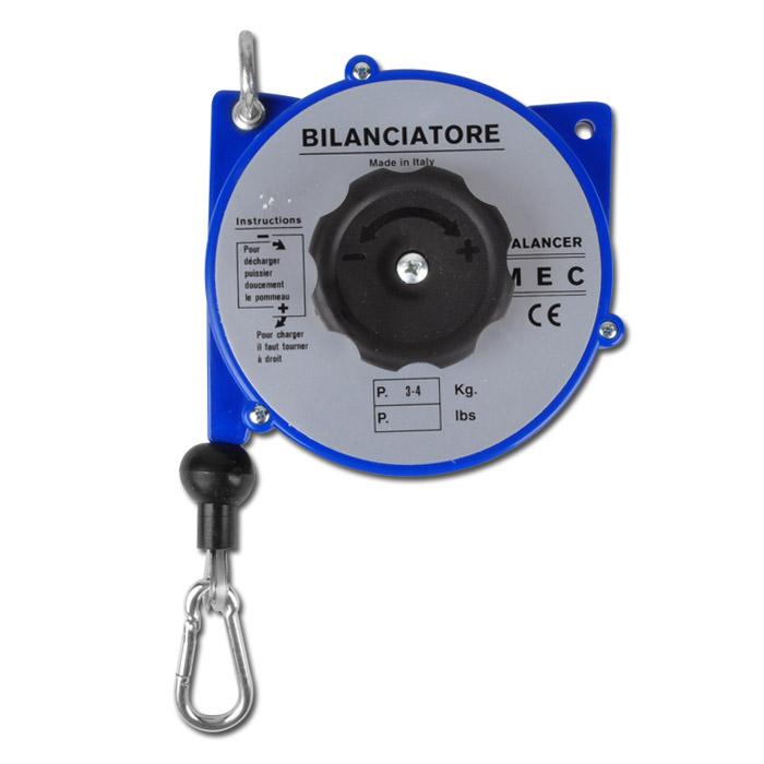 """Equilibreur à ressort """"A3"""" - charge 3-4 kg - boîtier Ø 130 mm - longueur du câble 1,65-2,5 m"""